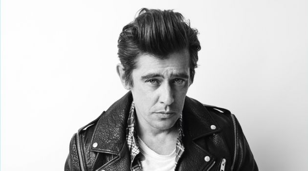 Werner Schreyer rocks a leather biker jacket for Zadig & Voltaire's fall-winter 2018 campaign.