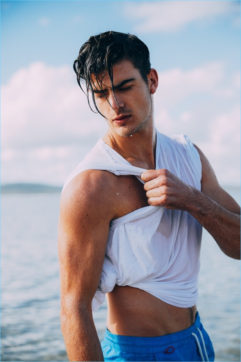 Zandre du Plessis stars in an editorial for Victor magazine.