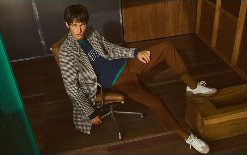 Justin Eric Martin stars in a fall editorial for Zara Man.