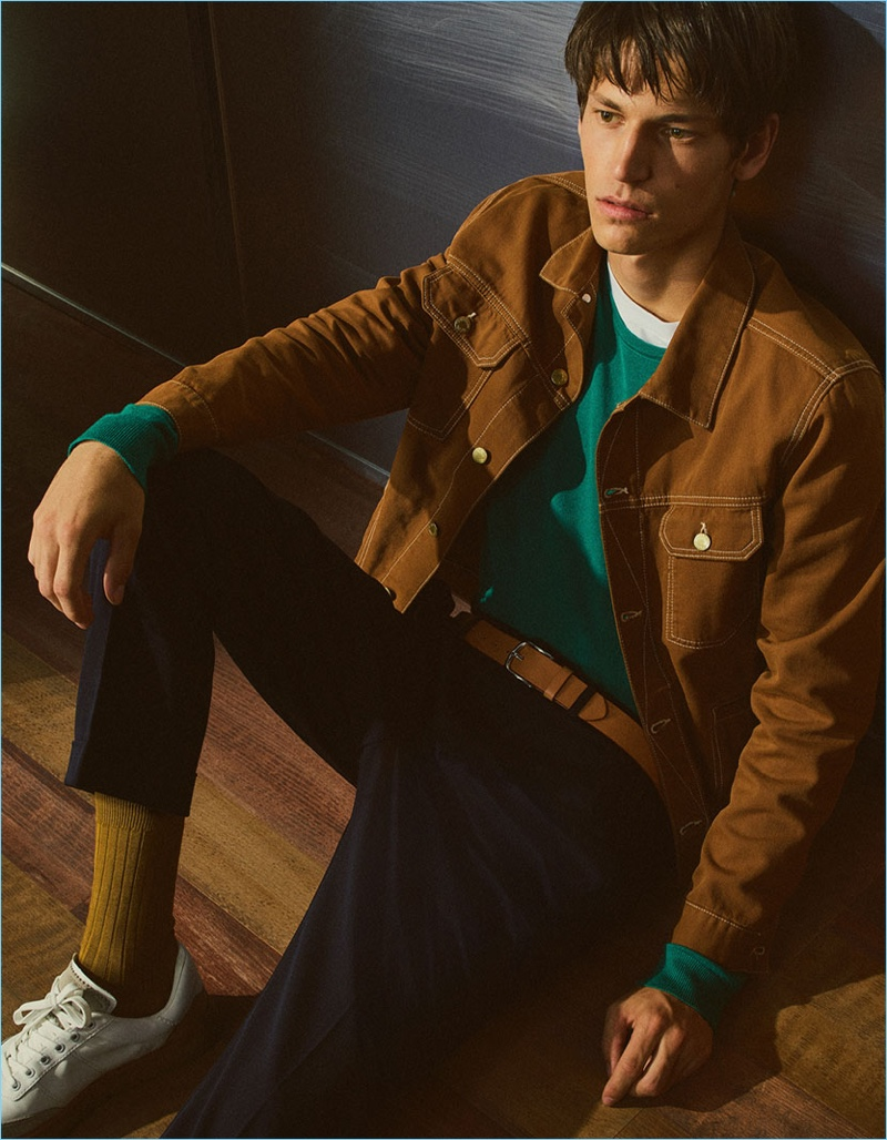 Inspiring in fall styles, Justin Eric Martin connects with Zara Man.