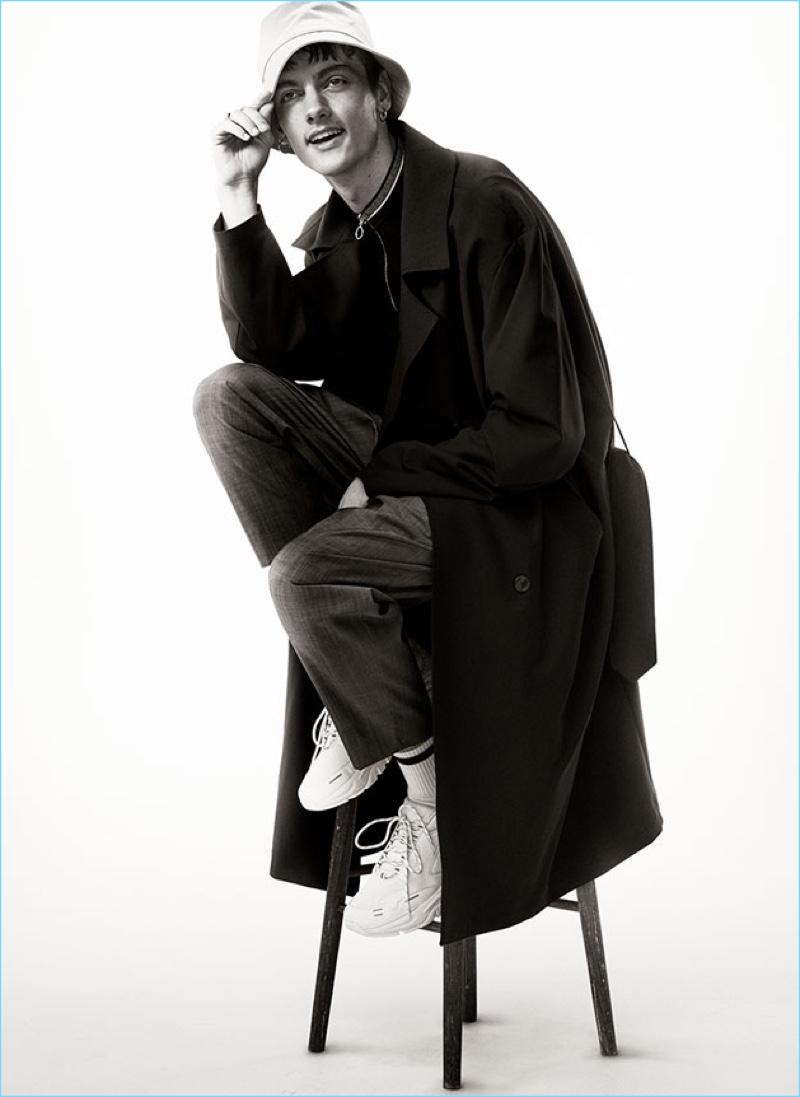 Calum Paterson rocks Zara Man's classic trench coat.