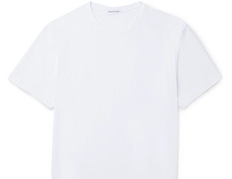 Acne Studios - Edvin Stretch-Cotton Jersey T-Shirt - White