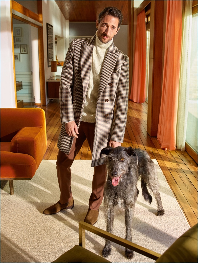 Mango Man taps Adrien Brody and his dog Opi for its fall-winter 2018 campaign.