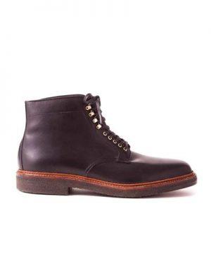 Alden Plain Toe Boot In Black