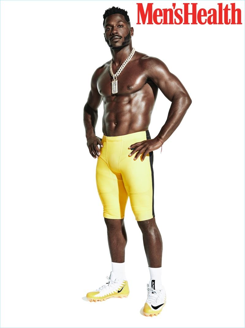 Antonio Brown stars in a Men's Health photo shoot.