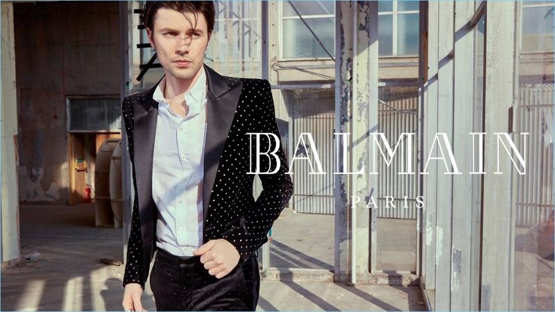 James Bay stars in Balmain's fall-winter 2018 campaign.