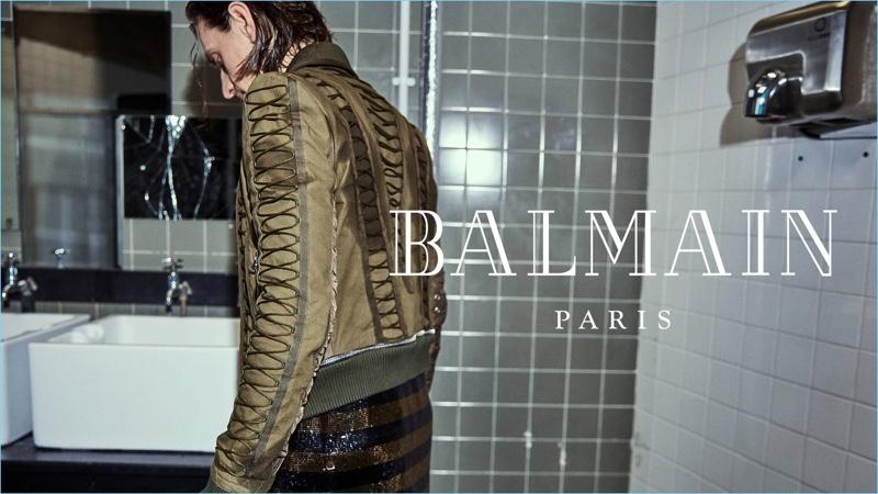 Dancer Sergei Polunin appears in Balmain's fall-winter 2018 campaign.