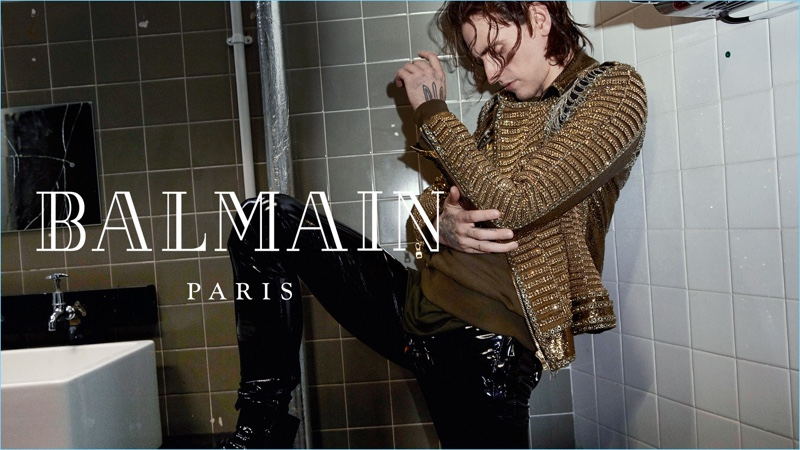 Sergei Polunin links up with Balmain for its fall-winter 2018 campaign.