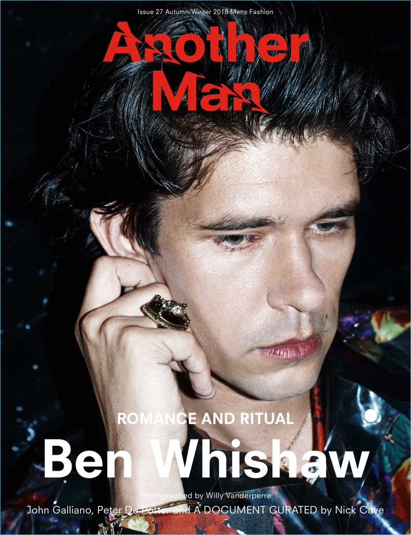 Ben Whishaw covers the fall-winter 2018 issue of Another Man.