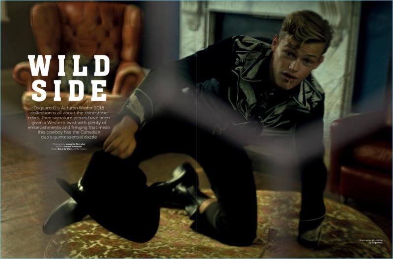 Wild Side: Bram de Wolf Rocks Dsquared2 for Attitude