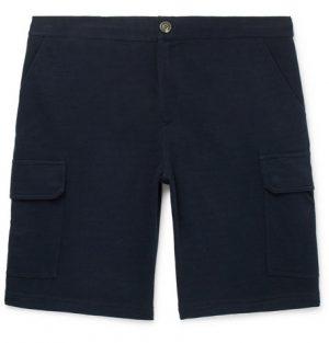 Brunello Cucinelli - Cotton-Blend Cargo Shorts - Midnight blue