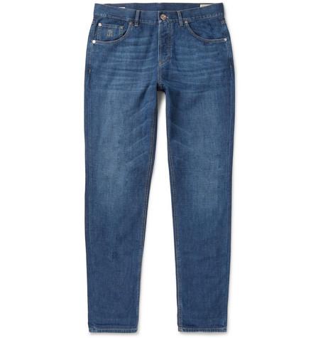 Brunello Cucinelli - Slim-Fit Denim Jeans - Blue