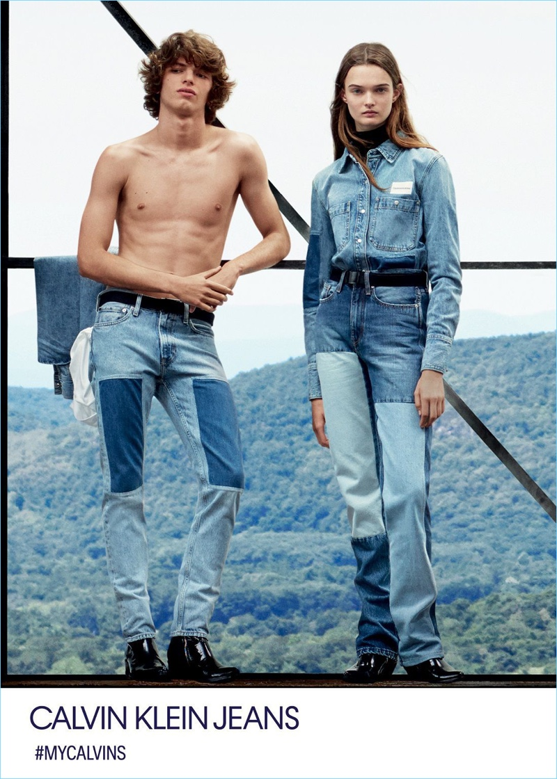 Fernando Albaladejo and Lulu Tenney front Calvin Klein Jeans' fall-winter 2018 campaign.