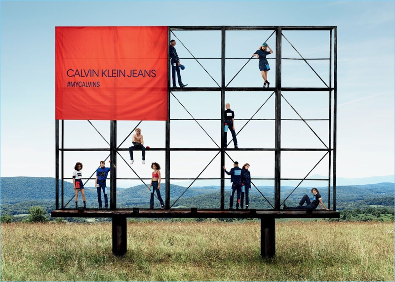 Willy Vanderperre photographs Calvin Klein Jeans' fall-winter 2018 campaign.