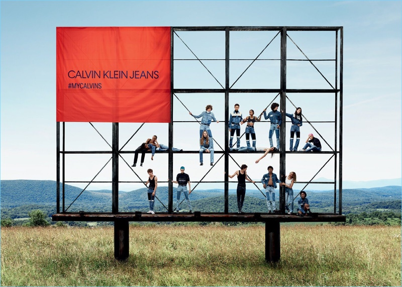 Venturing outdoors, Calvin Klein Jeans presents its fall-winter 2018 campaign.