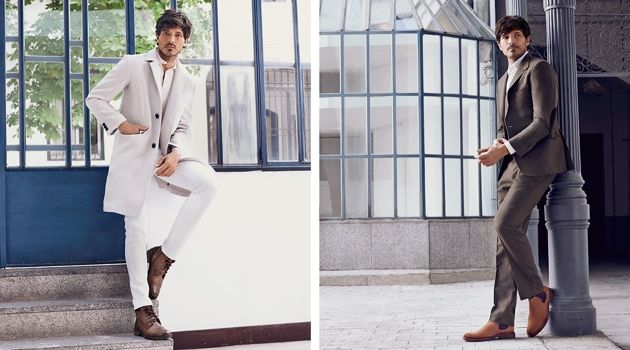 Andres Velencoso stars in Carmela Shoes' fall-winter 2018 campaign.