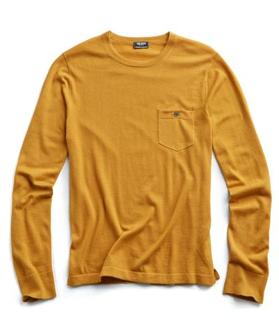 Cashmere T-Shirt Sweater in Brass