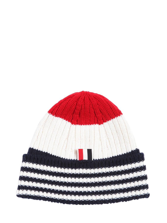 543159abf6e Cashmere Wide Rib Knit Beanie Hat