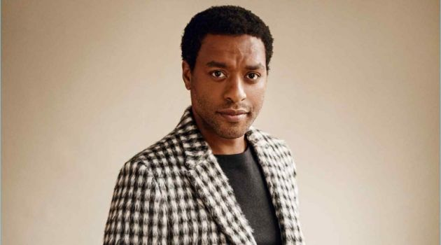Chiwetel Ejiofor dons an Ermenegildo Zegna Couture sweater and suit.