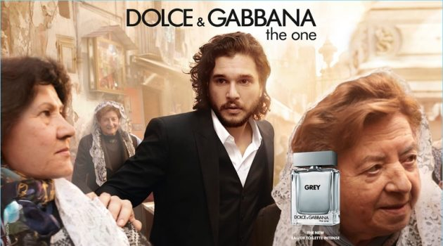 Kit Harington stars in a fragrance campaign for Dolce & Gabbana The One Grey.