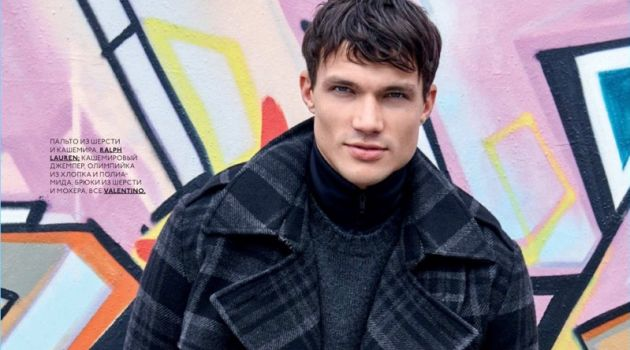 Dominic Carisch Makes a Statement in Checks for GQ Style Russia
