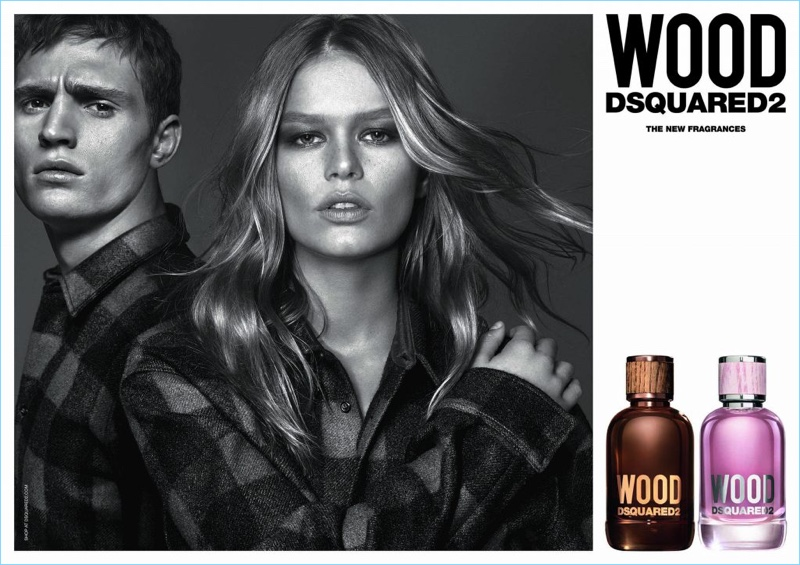 Mert & Marcus photograph Julian Schneyder and Anna Ewers for Dsquared2's Wood fragrance campaign.