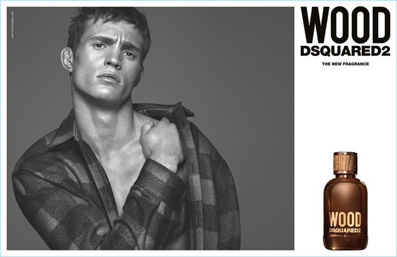 Julian Schneyder stars in Dsquared2's Wood fragrance campaign.