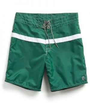 Exclusive Birdwell 311 Board Shorts in Green Surf Stripe