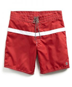 Exclusive Birdwell 311 Board Shorts in Red Surf Stripe