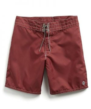 Exclusive Birdwell Contrast Pocket 311 Board Shorts in Maroon