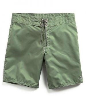 Exclusive Birdwell Contrast Pocket 311 Board Shorts in Olive