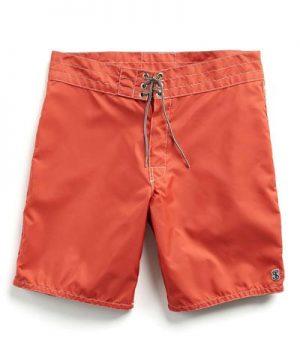 Exclusive Birdwell Contrast Pocket 311 Board Shorts in Orange