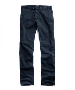 Extra Slim Fit Tab Front Stretch Chino in Navy