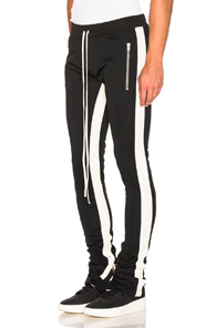 Fear of God Double Stripe Track Pant in Black,Neutral