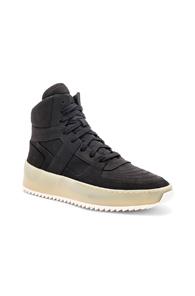 Fear of God Nubuck Basketball Sneakers in Black