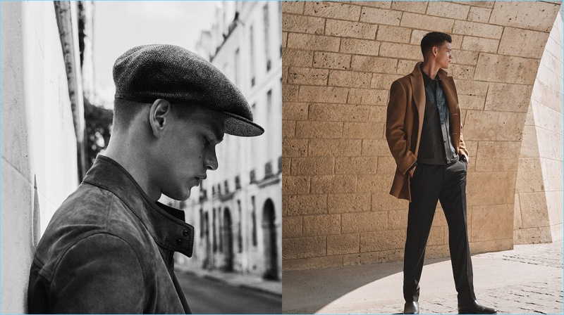 Embracing classic style, Filip Hrivnak wears fall-winter 2018 looks from Massimo Dutti.