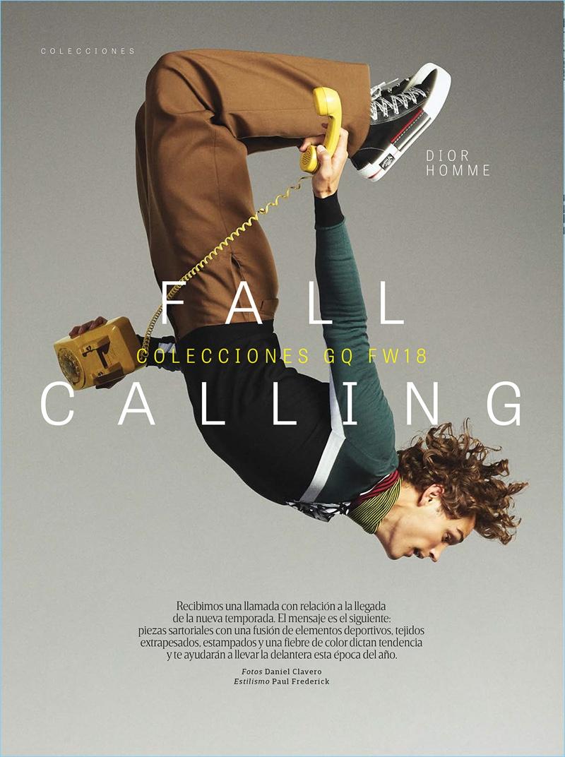 Fall Calling: Conor Fay, Valentine Rontez & Sebastien Schmid for GQ Style México
