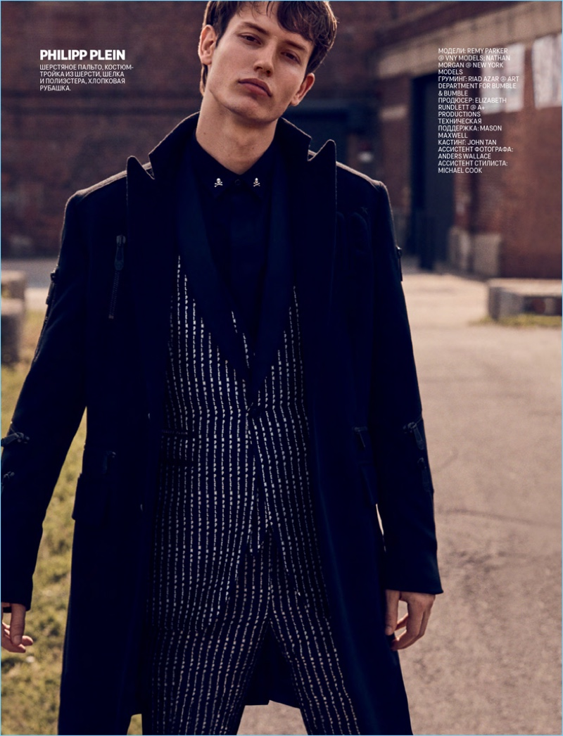 Nathan Morgan & Remy Parker Model Fall '18 Collections for GQ Russia