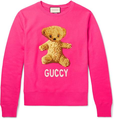 Gucci – Appliquéd Loopback Cotton-Jersey Sweatshirt – Men ...