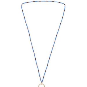Gucci - Beaded Gold-Tone Necklace - Blue