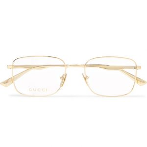 Gucci - Square-Frame Gold-Tone Optical Glasses - Gold