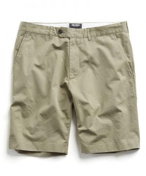 Hudson Tab front Chino Short in Light Olive
