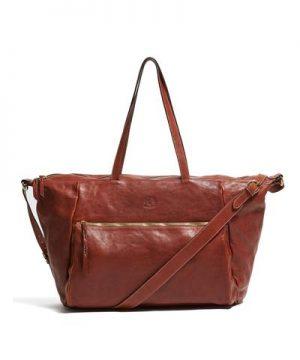 Il Bisonte Cowhide Travel Bag in Brown