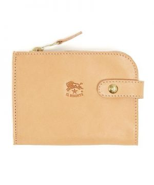 Il Bisonte Cowhide Zipper Wallet in Natural