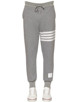 Intarsia Stripes Cashmere Sweatpants
