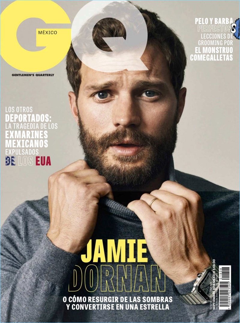 Jamie Dornan covers the September 2018 issue of GQ México.