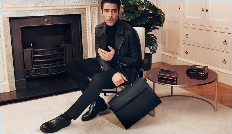 Jon Kortajarena promotes Furla's Mercurio bag for its new fall 2018 campaign.