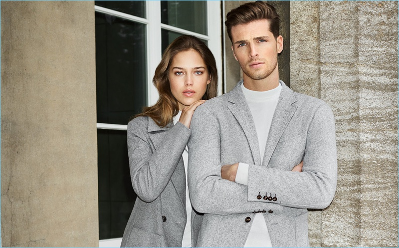 Models Julia Jamin and Edward Wilding come together for JOOP!'s fall-winter 2018 campaign.