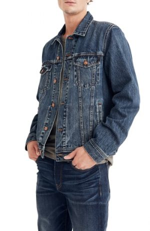 Men's Madewell Classic Denim Jacket, Size Large - Blue