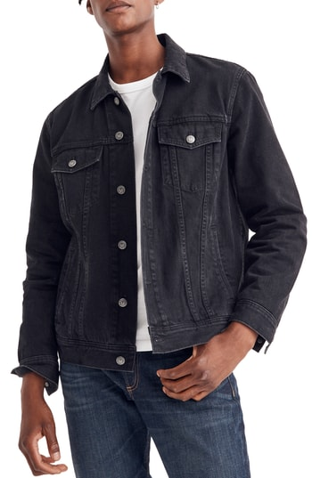 Men's Madewell Classic Denim Jacket, Size Small - Black